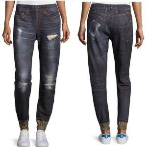 Rag & Bone 'Pajama Jean' denim print joggers